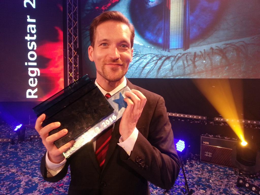 Bester Moderator beim Regiostar 2016